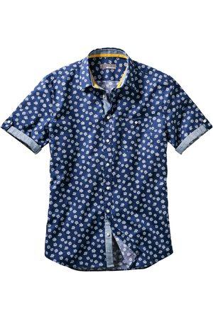 Mey & Edlich Herren Hemden - Herren Blaudruck-Hemd Krempelärmel