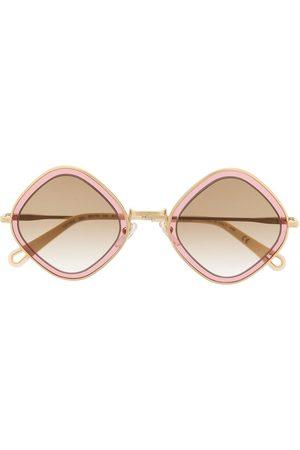 Chloé Eyewear Sonnenbrille mit eckigem Gestell