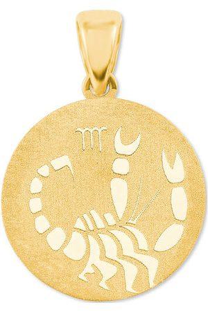 Amor Anhänger Sternzeichen, 375er Gelbgold, , onesize