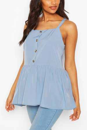 Boohoo Womens Maternity Button Front Cami Smock Top - - 34