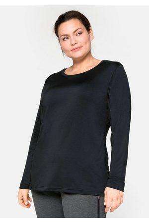 Sheego Langarmshirt mit reflektierendem Rückendruck