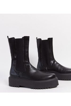 ASOS – Alana – Robuste Chelsea-Stiefel in , weite Passform