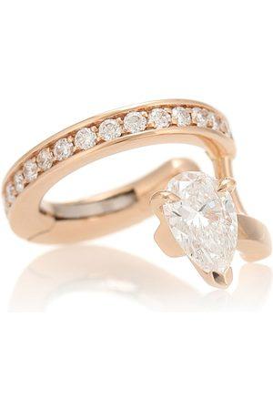 Repossi Einzelner Ear Cuff Serti Sur Vide aus 18kt Rosé mit Diamanten