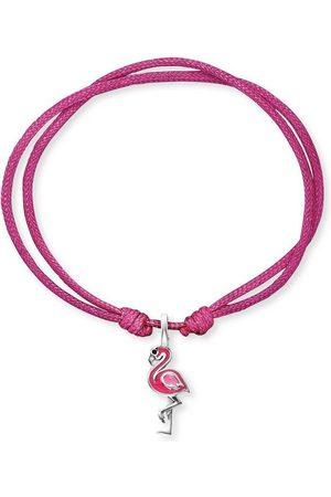 HERZENGEL Armband »Flamingo, HEB-FLAMINGO«, mit Emaille