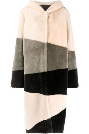 LISKA Einreihiger Mantel mit Kapuze
