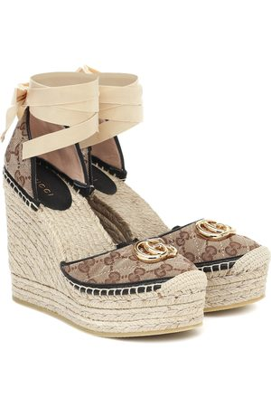 Gucci Wedge-Espadrilles mit Canvas
