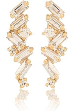 Suzanne Kalan Ohrringe Fireworks aus 18kt Gelbgold mit Diamanten