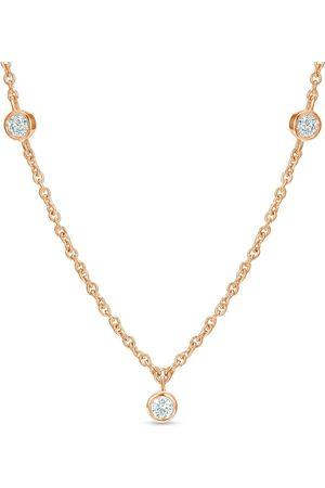De Beers 18kt Rotgoldhalskette mit Diamanten