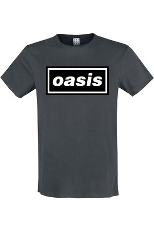 Oasis Herren T-Shirts, Polos & Longsleeves - Amplified Collection - Logo T-Shirt charcoal