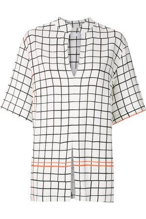 OSKLEN Damen Blusen - Hemd mit Gitter-Print