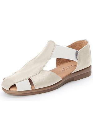 Aerobics Sandale aus 100% Leder weiss