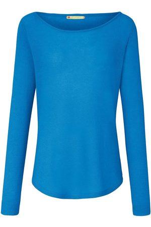 FLUFFY EARS Rundhals-Pullover aus 100% Premium-Kaschmir
