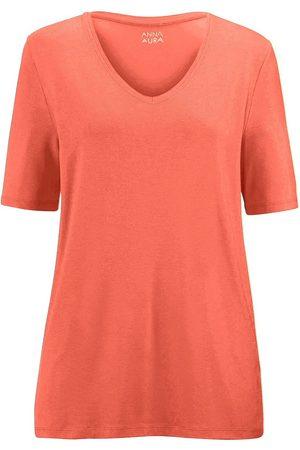 Anna Aura Shirt gerundetem V-Ausschnitt