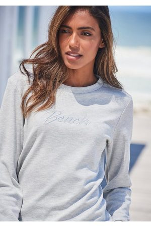 Bench Sweatshirt mit glänzender Logostickerei