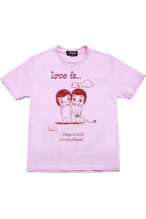 Dsquared2 T-shirt Aus Jersey Mit Druck
