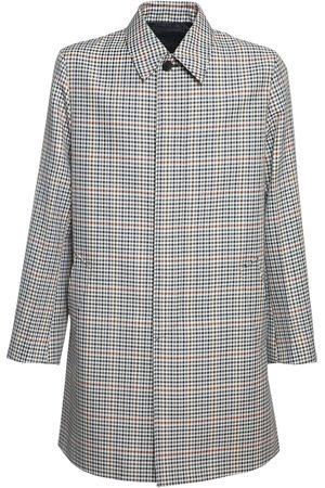 Prada Check Waterproof Tech & Wool Coat
