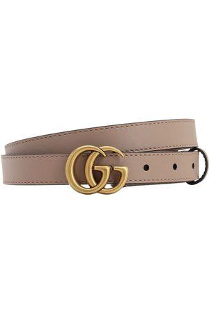"""Gucci 20mm Breiter Ledergürtel """"gg Marmont"""""""