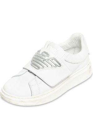 Emporio Armani Riemensneakers Aus Leder