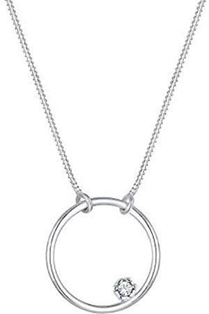Elli Halskette Kreis Basic Swarovski® Kristalle 925