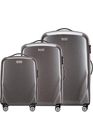 Wittchen Stabiler Reisekoffer Koffer-Set Trolley von Material polycarbonat 4 Lenkrollen Zahlenschloss 11KG Farbe