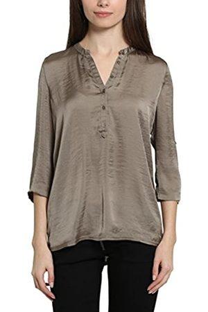 Berydale Damen Bluse mit V-Ausschnitt und Knopfleiste, Oliv