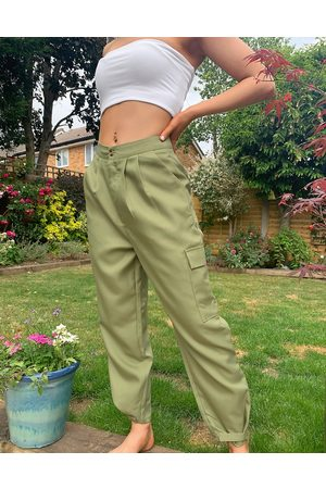 Missguided – Ballon-Cargohose in Khaki