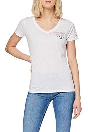 Tommy Hilfiger Damen Tjw Essential V-Neck Logo Tee T-Shirt