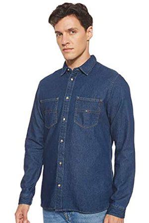 Tommy Hilfiger Herren Pocket Langarm Regular Fit Jeanshemd Medium (Herstellergröße: M)