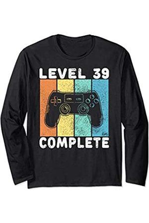 Geburtstag T-Shirts Kinder & Erwachsene by KaMi 39. Geburtstag Männer Gamer Level 39 Complete 39 Jahre Langarmshirt