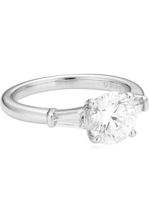 DIAMONFIRE Damen-Ring 925 Sterling Silber Zirkonia Bridal Gr.52 (16.6) 61/1275/1/082-52