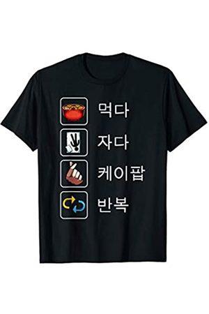 K-pop Kpop Koreanische Geschenke Eat Sleep K-Pop Repeat KPop Koreanisch Hangul Seoul T-Shirt