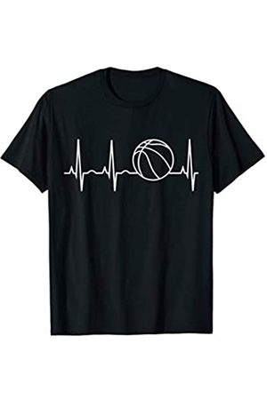 Heartbeat Basketball Shirt & I Love Basketball Tee Heartbeat Basketball Shirt Bester Basketballspieler Fan Tee T-Shirt