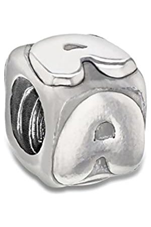 Tuscany Charms Sterling Silver A Cube Bead