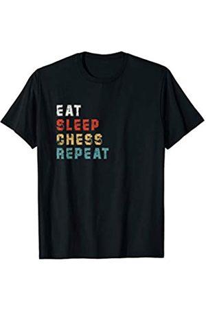 Funny Eat Sleep Chess Repeat Gifts Eat Sleep Chess Repeat Funny Chess Player Gift Idea Vintage T-Shirt