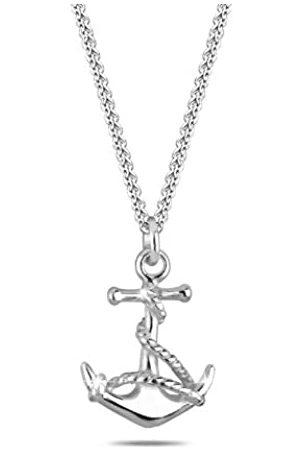 Elli Damen Halskette mit Anker Anhänger Maritim Meer Symbol See in 925 Sterling - 45cm Länge