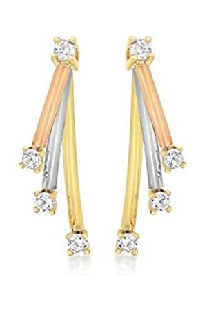 Carissima Gold Damen-Ohrringe 375 Zirkonia 3.57.8169