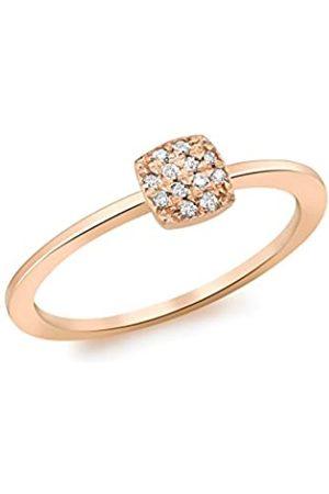Carissima Gold Damen-Ring 375 9 Karat (375) Rotgold Rundschliff Diamant 52 (16.6)