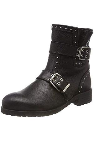Pavement Damen Silje Leather Wool Stiefeletten, (Black 020 020)