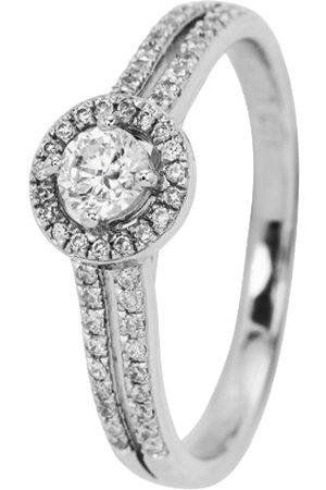 Burgmeister Jewelry Damen-Ring 925 Sterling Silber rhodiniert Zirkonia Gr. 57 (18.1) JBM2011-111-18