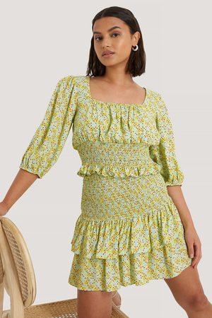 Trendyol Bluse Mit Rüschendetail - Multicolor