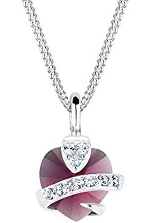 Elli Halskette Damen Herz mit Swarovski Kristall in 925 Sterling Silber