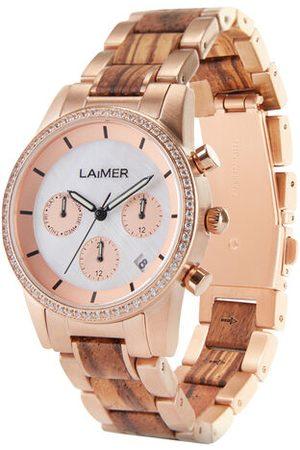 Laimer Damen Uhren - Armbanduhr Holzuhr Kora