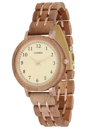 Laimer Damen Uhren - Armbanduhr Holzuhr Eva
