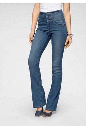 ARIZONA Bootcut-Jeans »mit extrabreitem Bund« High Waist