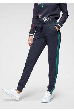KangaROOS Sweathose mit Streifen und Zier-Logo-Knöpfen seitlich