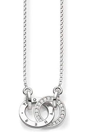 Thomas Sabo Damen-Kette Together Forever Glam & Soul 925 Sterling Silber Diamant Länge von 40 bis 45 cm D_KE0005-725-14-L45v