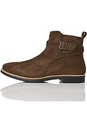 FIND Ethan Jodhpur Chelsea Boots, (Chocolate/Black)