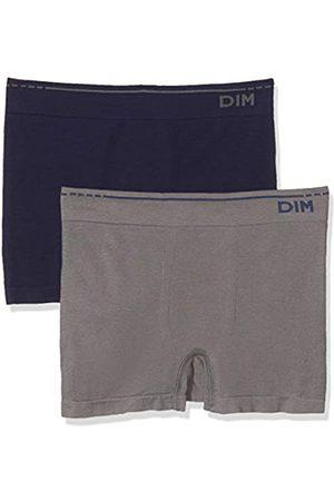Unno Herren Algodón Sin Costuras Pack X2 Dim Basic Hipster, (Gris Foncé/Azul Cobalt 74O)