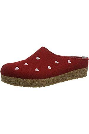 Haflinger Damen Grizzly Couriccini Pantoffeln (Rubin 211) 41 EU