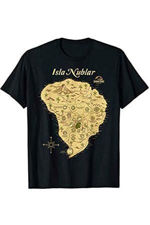 Jurassic Park Isla Nublar Map Detailed T-Shirt